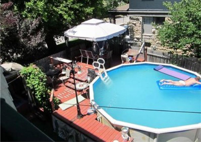Everyone would love a pool in their backyard Now a pool with a