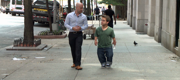 "Jon Novick talks to PIX11's Andrew Ramos about his viral documentary ""Don't Look Down On Me."" (August 21, 2014)"